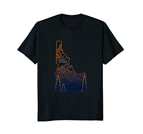 State Of Idaho T Shirt Mountains  Lakes  And Trees
