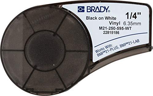 Brady M21-250-595-WT Cartridge, B595 Vinyl Indoor/Outdoor Material, 0.25
