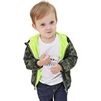 Lightweight Boys Jackets Quick-Dry Little Boys Zipper Jackets Windproof Printed Hooded Coat