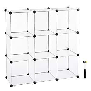 Delicieux SONGMICS Cube Storage, DIY Plastic Cube Organizer Units, Modular Closet  Cabinet For Clothes,