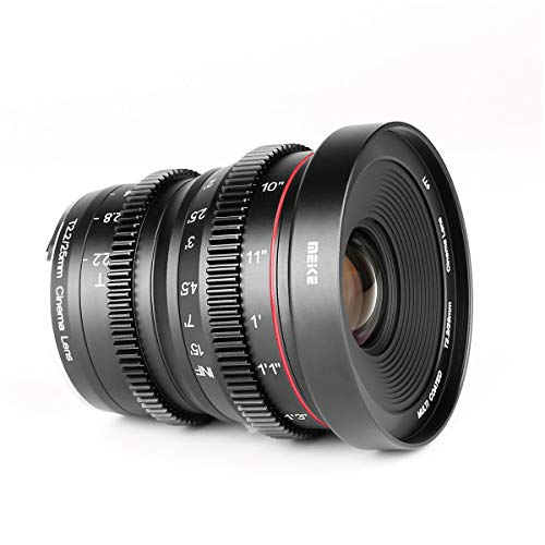 Meike 25mm T2.2 Manual Focus Prime Mini Cinema Lens for Micro Four Thirds MFT M43 Mount Cameras ()