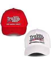 Lambor Make America Great Again Hat [2 Packs], Keep America Great Hat, Donald Trump 2020 USA MAGA Cap Adjustable Baseball Hat