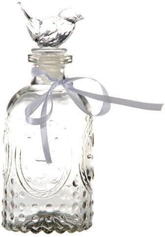 Glasflasche Dekoflasche Vase STERNE STARS 28 cm Shabby Landhaus Vintage