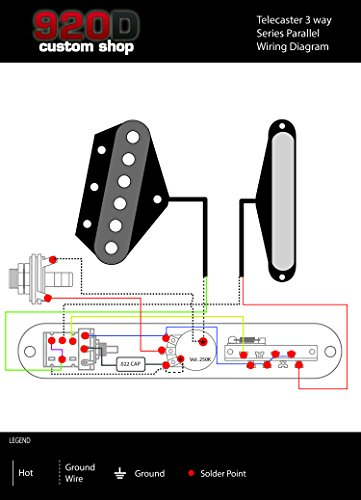 Fender Telecaster Loaded 3-Way Control Plate w/Push-Pull Series-Parallel, Chrome by Custom Shop (Image #4)