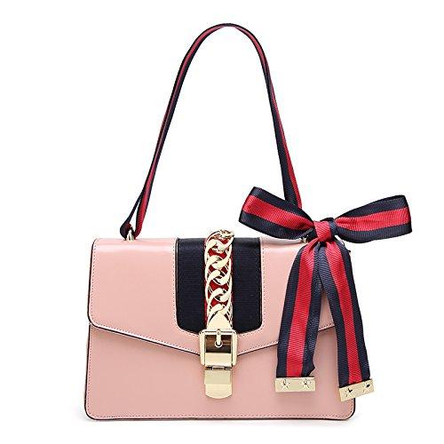 Mesdames Sac PU Lock Qualité Haute Sac Pink Rayé ZHXUANXUAN Sac Femmes Style New En Bandoulière Cuir CRvwqnxSOg