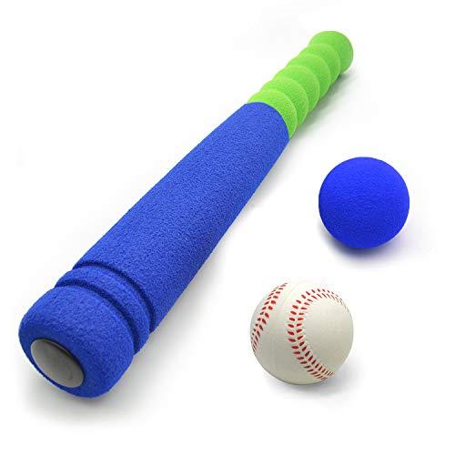CeleMoon [Mini Size] Super Safe Kids Foam 16.5 inch Baseball Bat Toys with 2 Balls for Children Age 3 yrs Old, Portable…