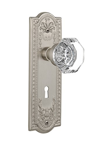 Nostalgic Warehouse Meadows Plate with Keyhole Waldorf Crystal Knob, Mortise - 2.25