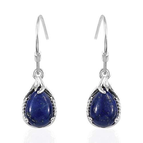 925 Sterling Silver Pear Lapis Lazuli Drop Lever Back Earrings from Shop LC Delivering Joy