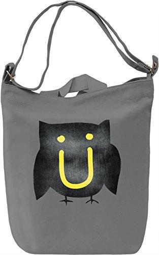Owl Jack U Borsa Giornaliera Canvas Canvas Day Bag| 100% Premium Cotton Canvas| DTG Printing|