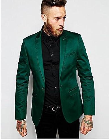 Mens 2 Piece Peak Lapel One Botton Classic Fit Suit Business Suit Casual Suit