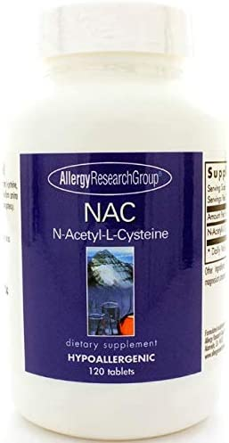 Allergy Research Group N-Acetyl-L-Cysteine, 500mg – 120 Tablets