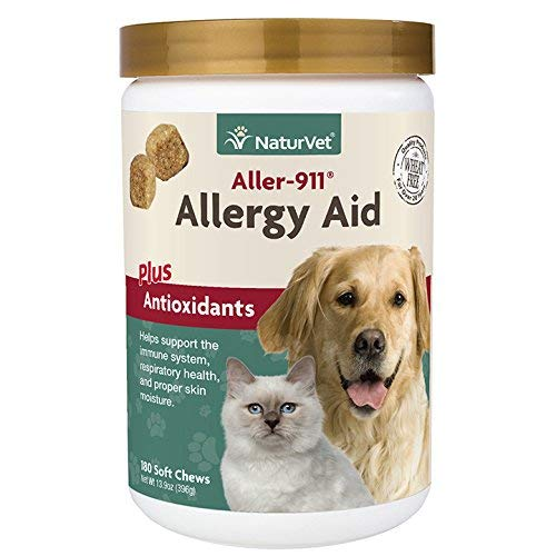 NaturVet Aller-911 Allergy Aid Plus Antioxidants Soft Chew for Dogs and Cats