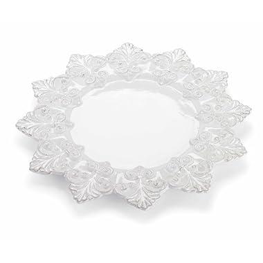 Mud Pie Fleur De Lis Round Platter