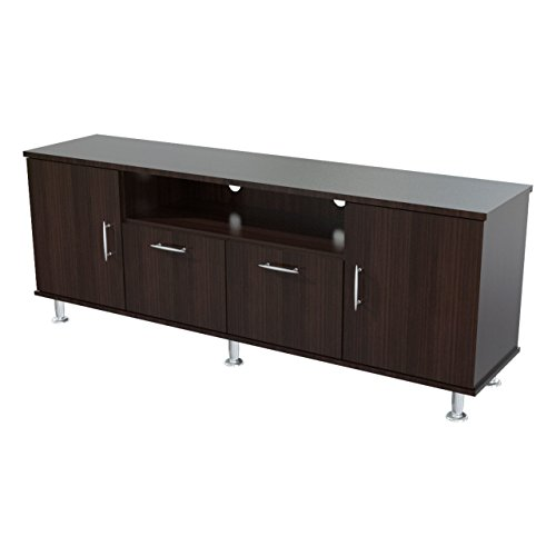 """Modern Style Elegant TV Stand for 60""""Inches Tv's with Media Storage and Cable Management in Espresso Finish 24.02"""" H x 56.3"""" W x 14.17"""" D in."""