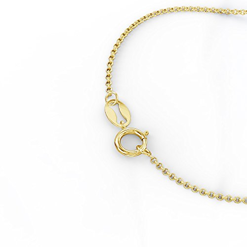 14K Gold Personalized Infinity Stylized Name Bar Pendant by JEWLR