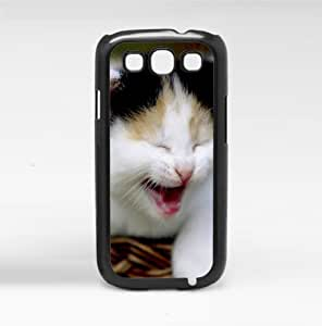 Adorable Smiling Baby Kitten Hard Snap on Phone Case (Galaxy s3 III)
