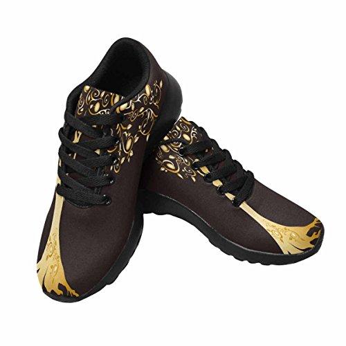 Chaussures De Course De Trailprint Womensprint Footing Jogging Sports Légers Marchant Chaussures De Sport Athlétiques Femme En Bois Tissé Avec Belle Couronne Branchée Multi 1