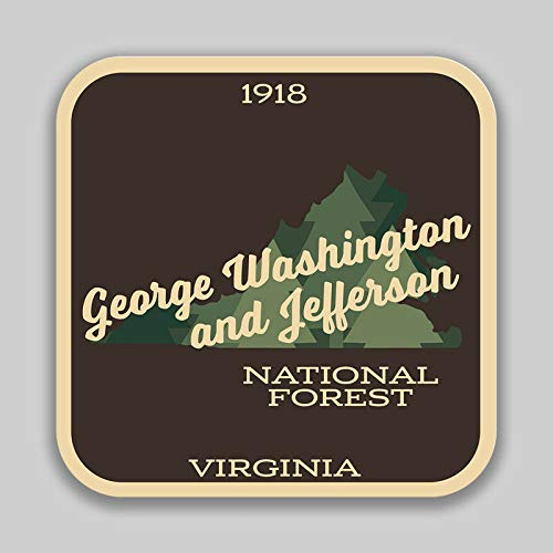 George Washington & Jefferson National Forest Explore Wanderlust Vinyl Decal Sticker Car Waterproof Car Decal Bumper Sticker 5