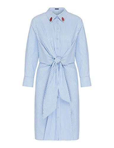 APART Fashion Damen Kleid Blau (Lightblue-cream Lightblue-cream) VKIexiU