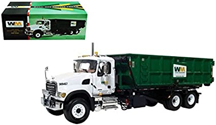 First Gear Mack B-61 Full Stake Truck with 2 Kraft Boxes 1//34 Scale