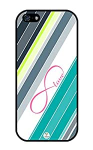iZERCASE iPhone 5, iPhone 5S Case Love Infinity Colorful Stripes RUBBER CASE - Fits iPhone 5, iPhone 5S T-Mobile, Verizon, AT&T, Sprint and International by icecream design