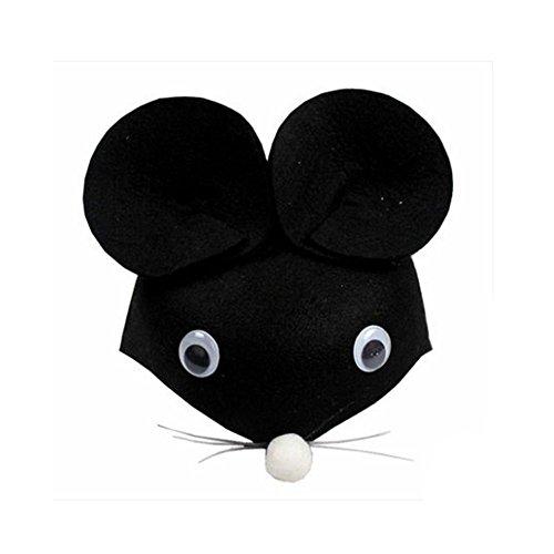 Farm Animal Cartoon Kids Mask Hat for Cosplay Halloween Birthdays Theme Party Costume -