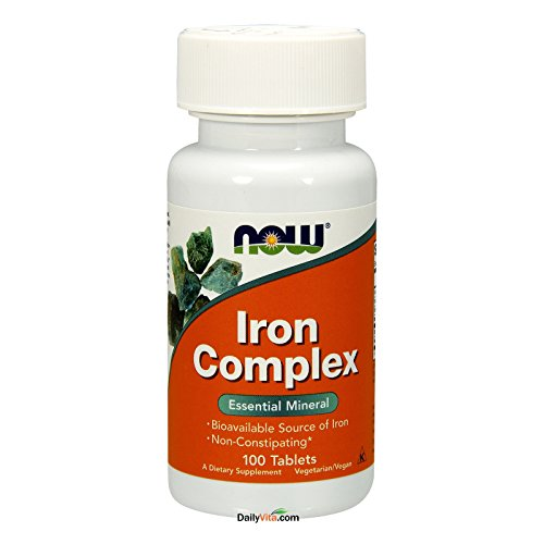 2 Bottles of NOW Foods IRON COMPLEX 100 Tabs