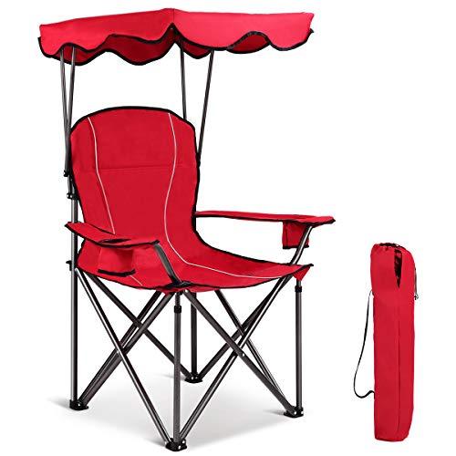 Gymax Canopy Chair Portable