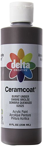 Delta Creative Ceramcoat Acrylic Paint in Assorted Colors (8 Ounce), 020258 Burnt Umber