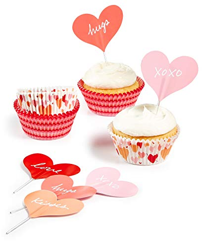 Martha Stewart Collection Heart Cupcake Liners Toppers]()