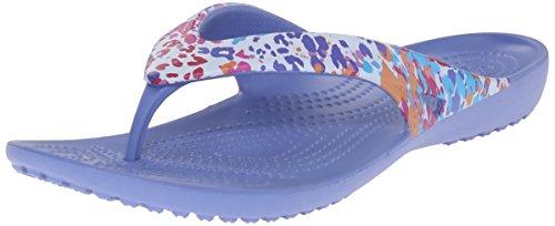 crocsKadee II Floral Flip W - Sandalias de Punta Descubierta Mujer Blu (Lapis)