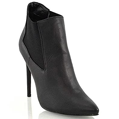 Ladies Black  Knee High Womens  Boots Stilleto  Heel Pointy Toe  Sizes 45678