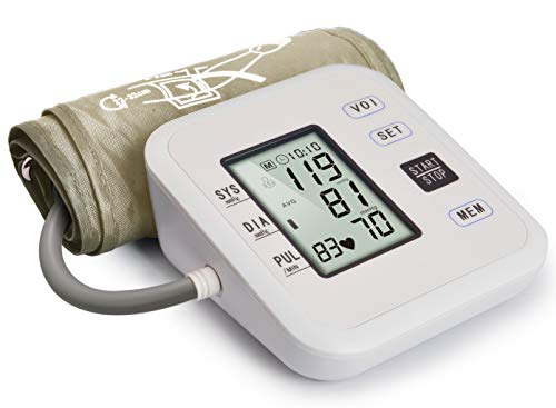 """Hong S Upper Arm Blood Pressure Monitor Large LCD Display & Voice Broadcast with Adjustable Cuff (8.7"""" - 12.6"""") for 2 User/99 Set Memory Each Suitable for Home Use"""