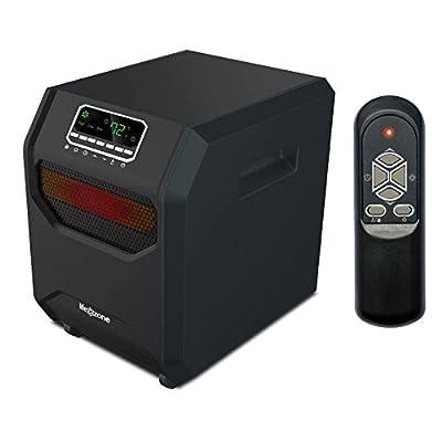 Lifesmart ZCHT1056US 4-Element Infrared Bulb Heater, Black