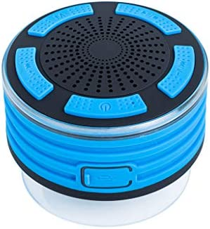 F013吸盤付きワイヤレスBluetoothスピーカーラジオシャワースピーカーIPX7吸引カップ付きBluetoothポータブルワイヤレススピーカー