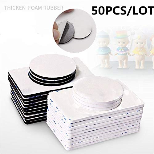 MSOO 50pcs Double Sided Black Foam Tape Strong Square Car & Home Use Adhesives (A:1.06x1.06x0.59