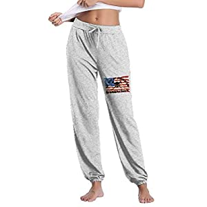 Flag Print Straight Casual Pant