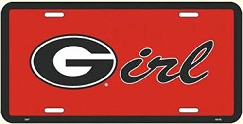 - University of Georgia Bulldogs G Girl Novelty Metal License Plate Tag Sign - 2697