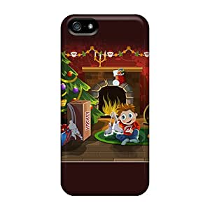 MarilouLCarlson Iphone 5/5s Hybrid Tpu Case Cover Silicon Bumper Christmas Surprise