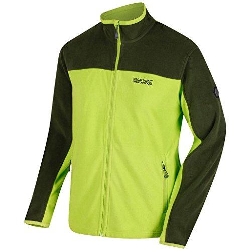 - 2018 Regatta Stanton II Fleece Full Zip Sports Jumper Lime Green/Racing Green 5XL