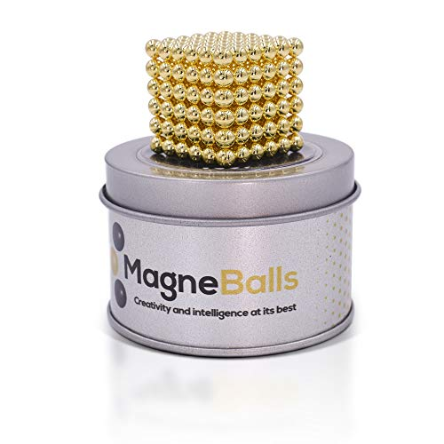 MagneBalls 5MM Magic Ball Set for Office Stress Relief |Desk Sculpture Toy Perfect for Crafts, Jewelry, Education |Fidget Cube Provides Relief for Anxiety, ADHD, Autism, Boredom (Gold) by MagneBalls (Image #3)