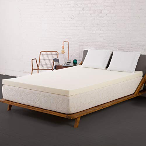 SleepJoy 3-inch ViscO2 Memory Foam Mattress Topper with Breathable Design, Made in The USA - Queen Size (Furniture Bedroom Usa In Made)
