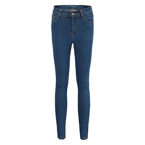 ajust Haute Skinny Taille Femmes Bleu en YOUJIAA Pantalon Stretch Trousers Jeans denim Tapered zUw8Bfq