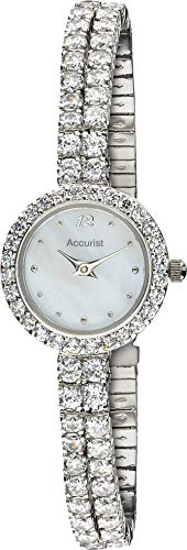 Accurist Womens Japanese Quartz Watch With Crystal Stone Set Case And Bracelet, Mother Of Pearl Dial, Jewellery Type…