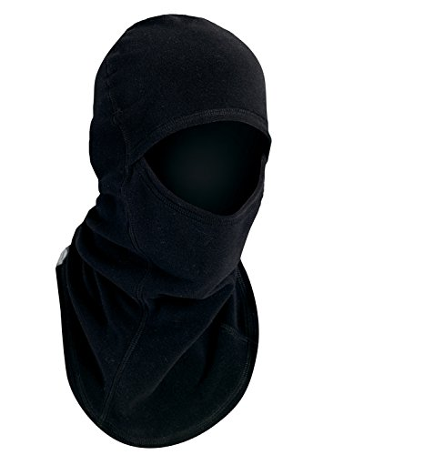 Turtle Fur Single-Layer Micro Fur Fleece Ninja Midweight Performance Balaclava, Black
