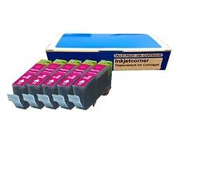 Inkjetcorner 5 Pack MAGENTA Compatible Ink Cartridge + chip for CLI-221 Canon iP3600 iP4600 iP4700 MP560 MP620 MP640 MX860 MX870 MP980 MP990 CLI-221M
