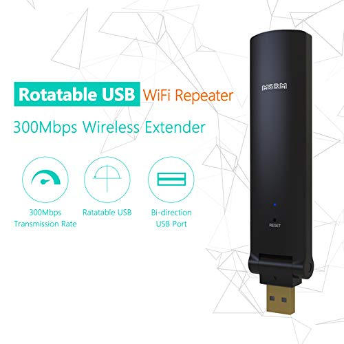 MSRM US310 WiFi Range Repeater, 300Mbps Mini Size USB WiFi Signal Booste with 360 Degree Full Coverage Available for 2.4 GHz Frequency
