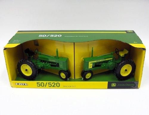 John Deere 1:16 scale 50 & 520 Tractor Replica Set - TBE45313
