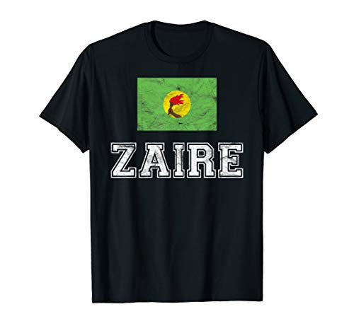 (Zaire Flag Vintage I Men Women Kids T-Shirt)