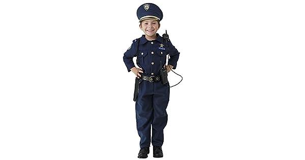 Amazon.com: Disfraz de policía de lujo para niño con bordado ...